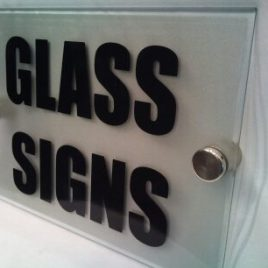 glass sign