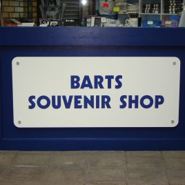 acrylic shop sign