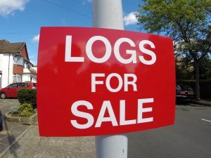 LOGS FOR SALE, Sign